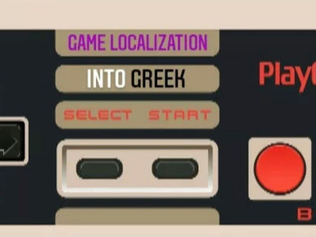 Game localization into Greek