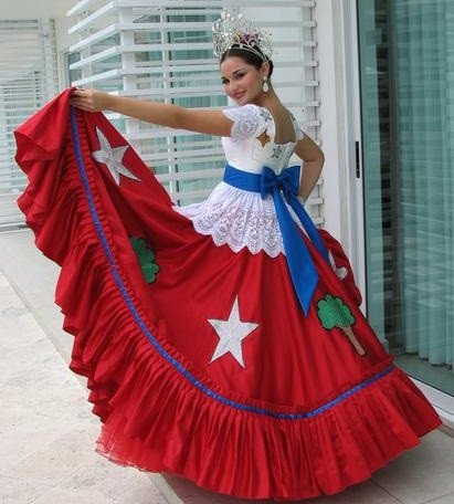 The representative costume of the State of Quintana Roo