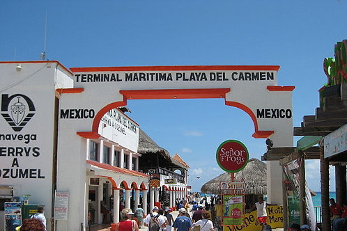 Ferry Dock at Playa del Carmen (Cozumel)