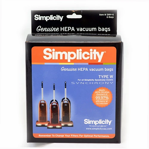 Genuine HEPA Synchrony Bags (pack of 6) SWH-6