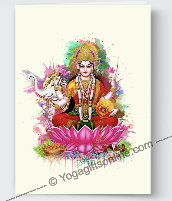 Lakshmi Card - Cream Background