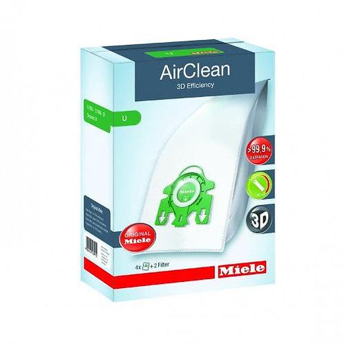 Type U AirClean 3D Efficiency Vacuum Bags 4 Bags & 2 Filters 10123230