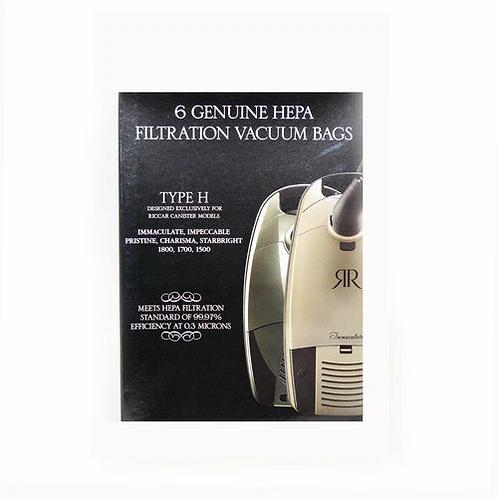 Type H Genuine HEPA Bags- 6 Pack, RHH-6