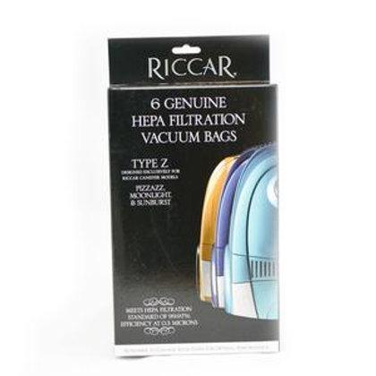 Type O Genuine Riccar HEPA media vacuum bags meet HEPA filtration standard of 99