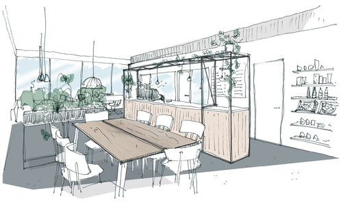 Concept for café/co-working space