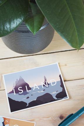 Post cards illustration