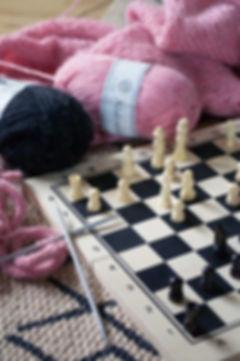 chess, wool, knitting, húsið, craft