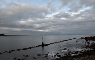 Last of evening light from Shaldon