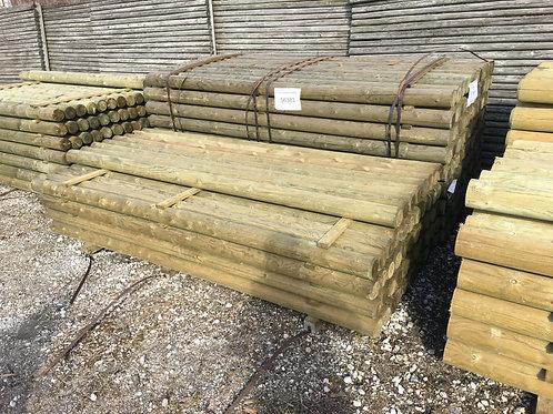 Trykimprægneret Runde stolper 16-24cm