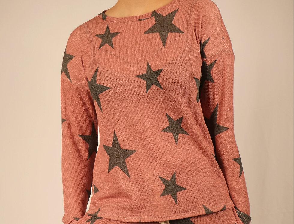 Star Print Top and Shorts