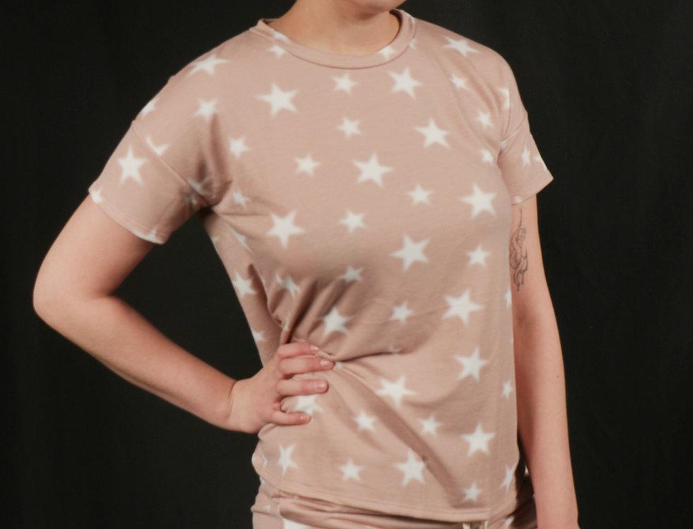 Top and Shorts Printed Star set