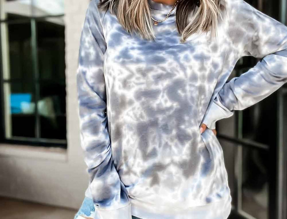 Gray Bomba Ombre Tie-dyed Sweatshirt