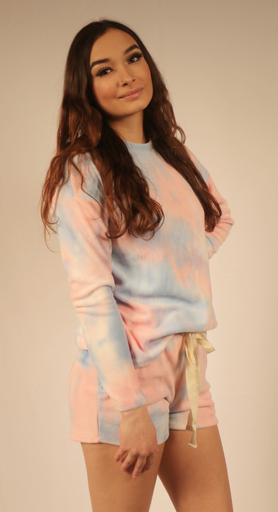 Top and Shorts Tie Dye Set