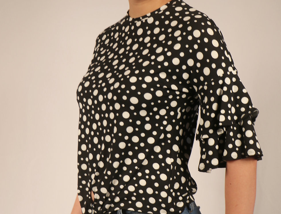 Black With Dots Top