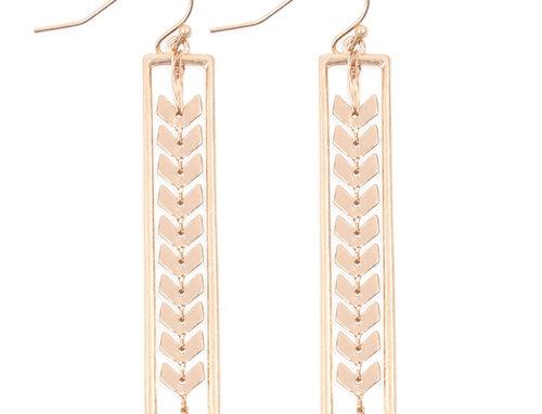 Arrow Head Chain Earrings
