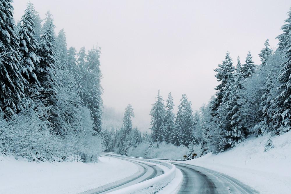 Winter wonderland on the road to Oregon
