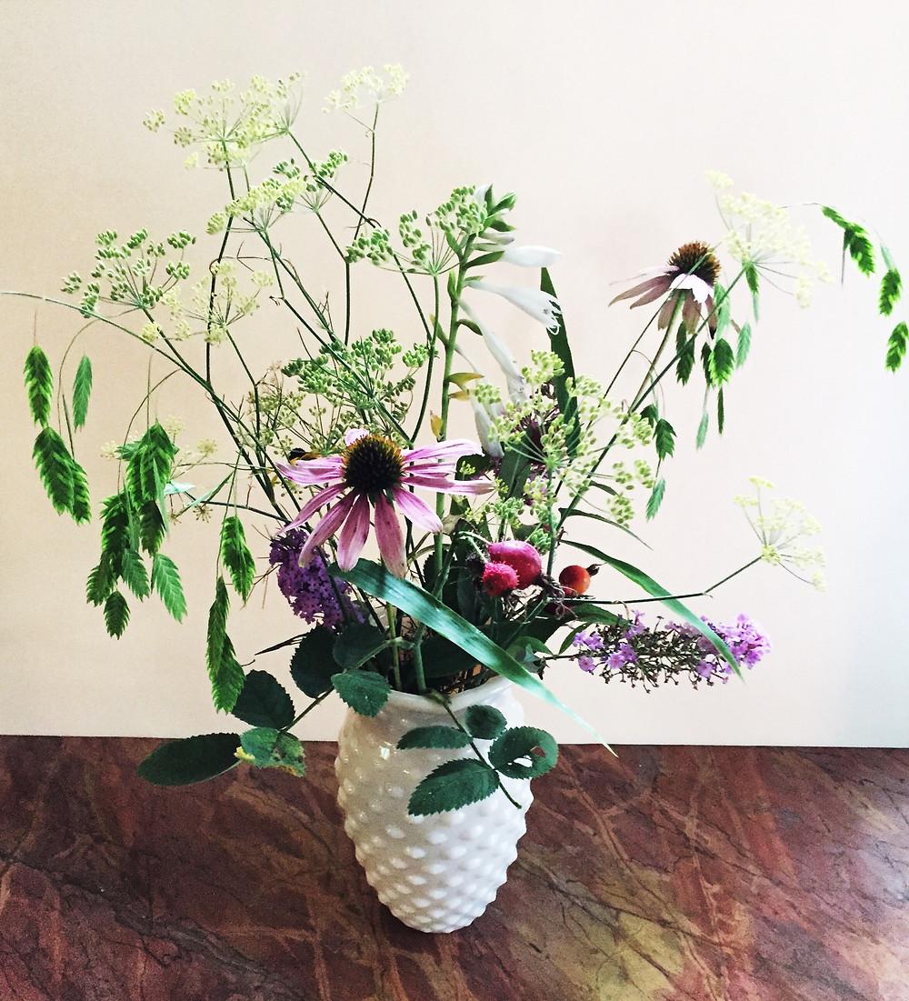End of summer bouquet from the garden