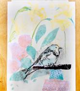Bird with Daffodils