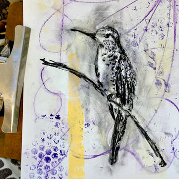 Long Beaked Bird (SOLD)