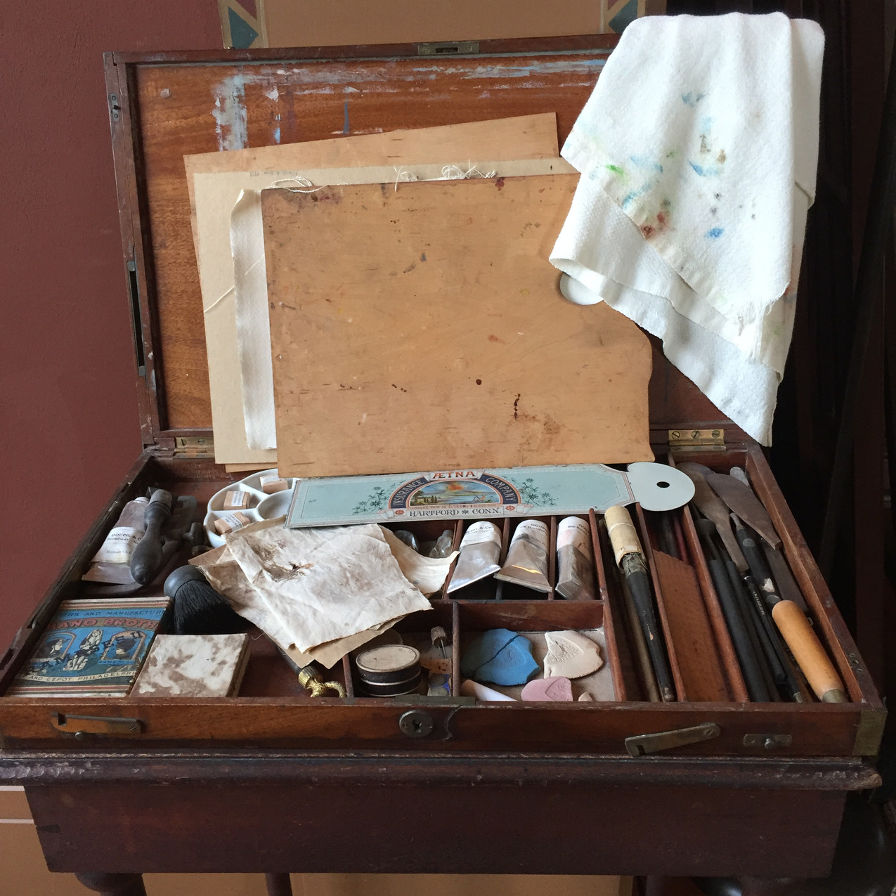 Frederick Church's paintbox