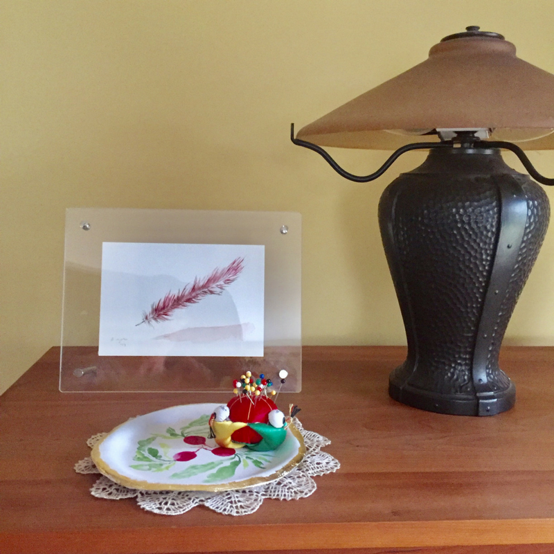 Radish dish & Red Feather