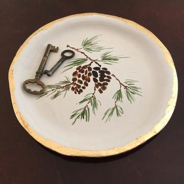 paper clay plate keys