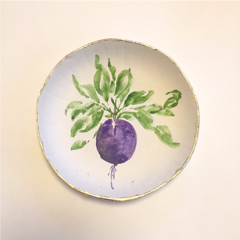 beet design shallow bowl