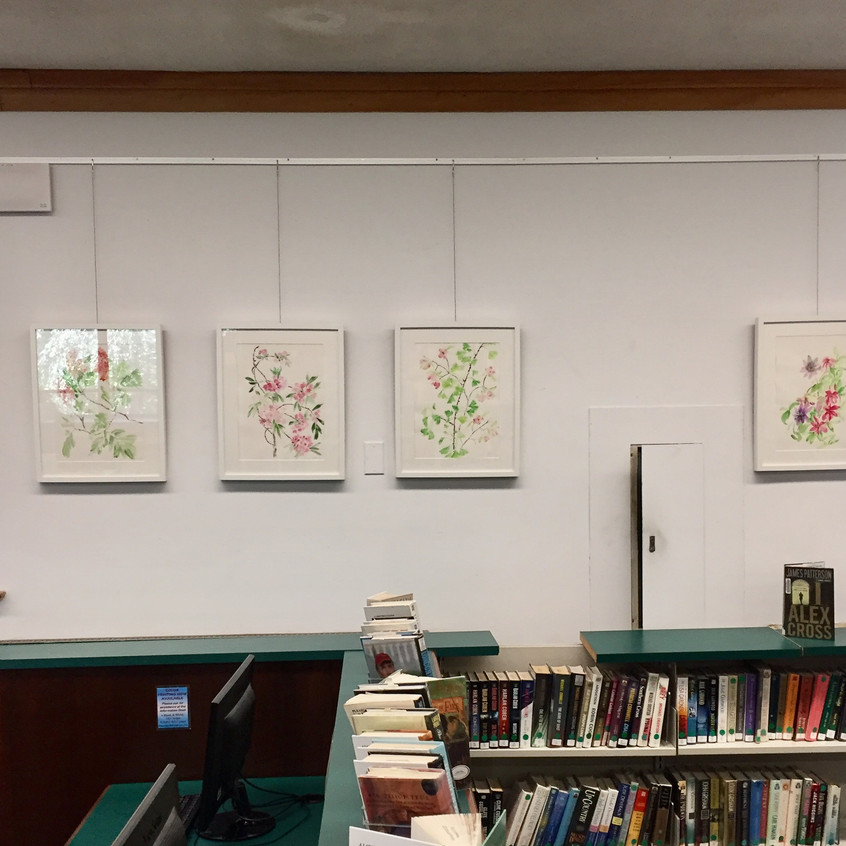 Large florals at library