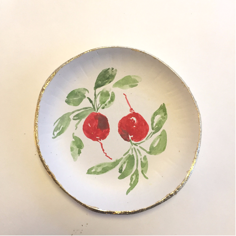 radish design shallow bowl