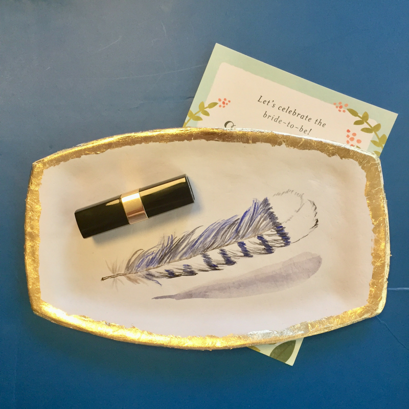 Paper clay feather tray