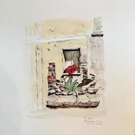 Window, Vernazza, Italy