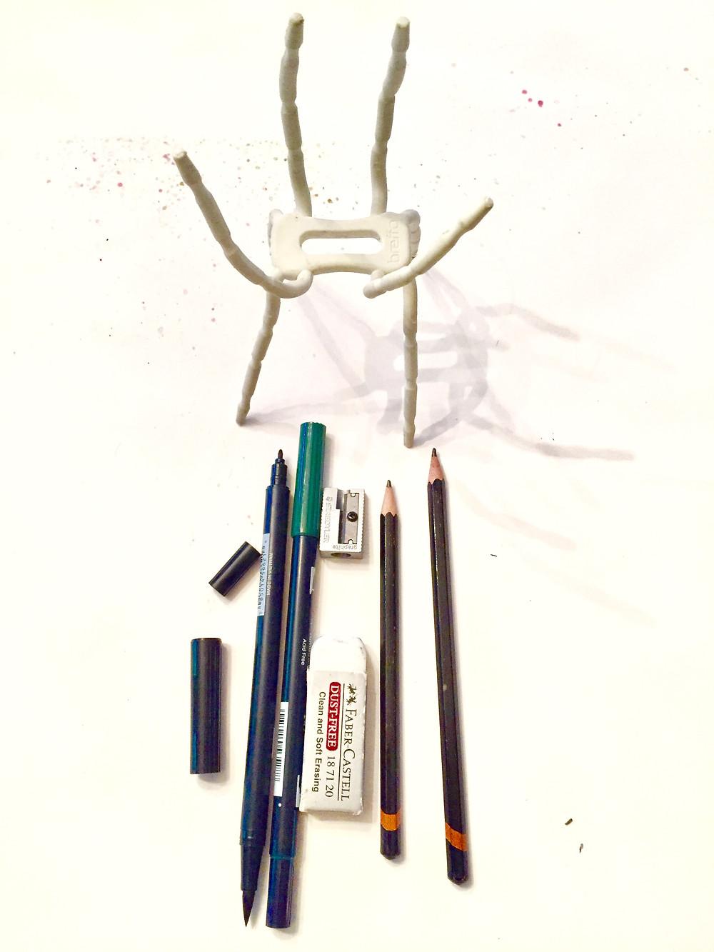 pencils, markers & supplies