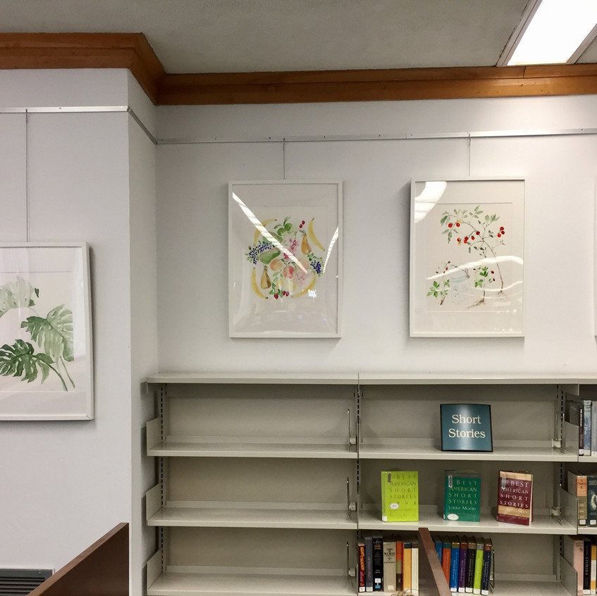 Leaves, fruits & vegetables at library