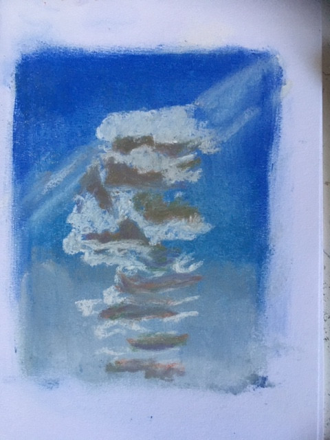 Cloud Study in pastel