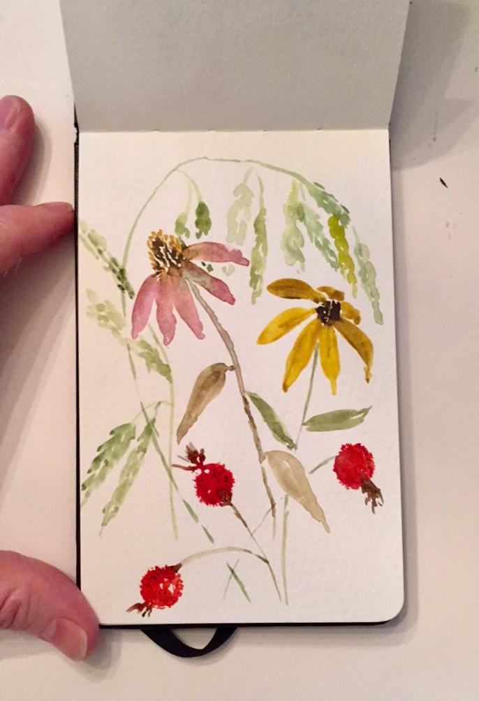 Moleskin End of Summer Flowers