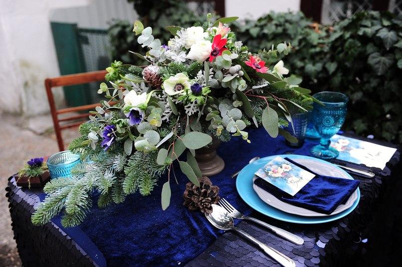 свадебный стол.