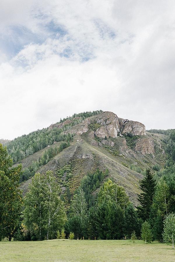 Прекрасный вид на гору.