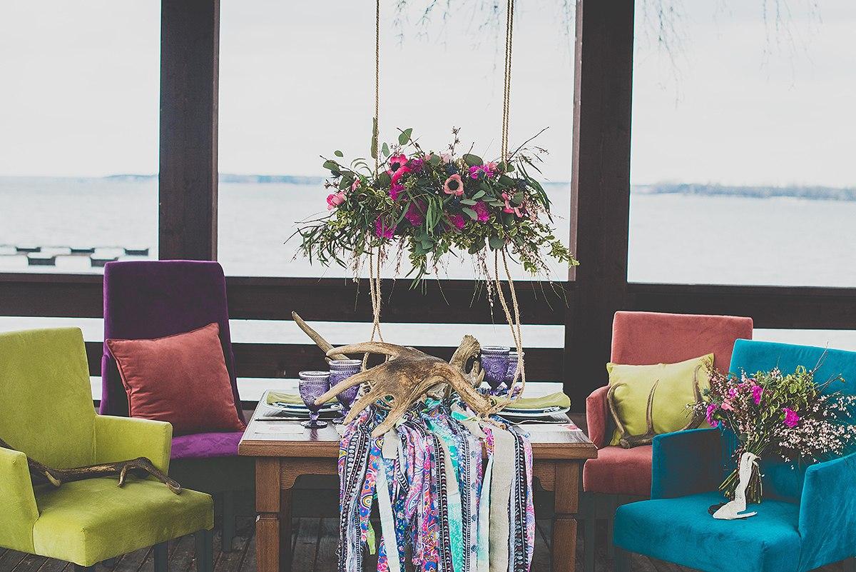 Вид свадебного стола.