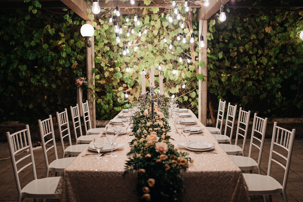 декор свадебного стола в Европе