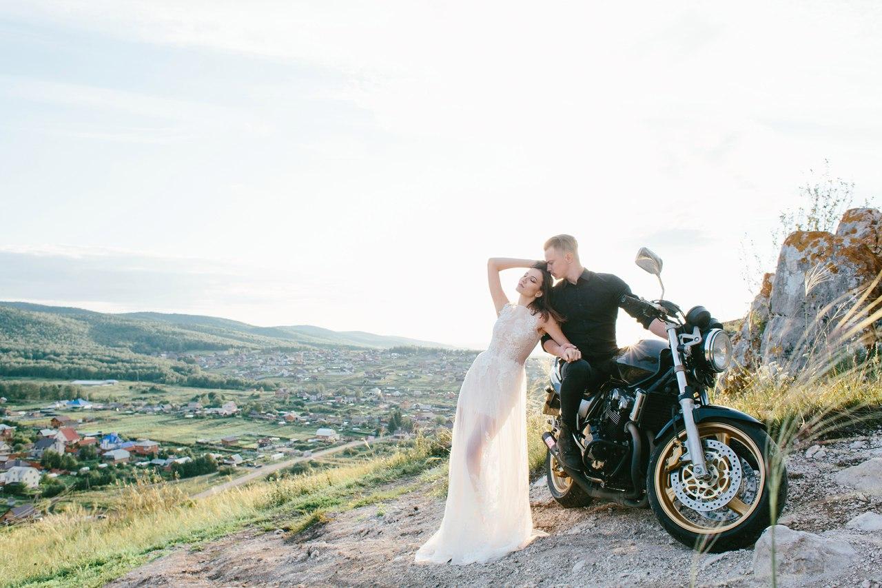 свадьба с мотоциклами