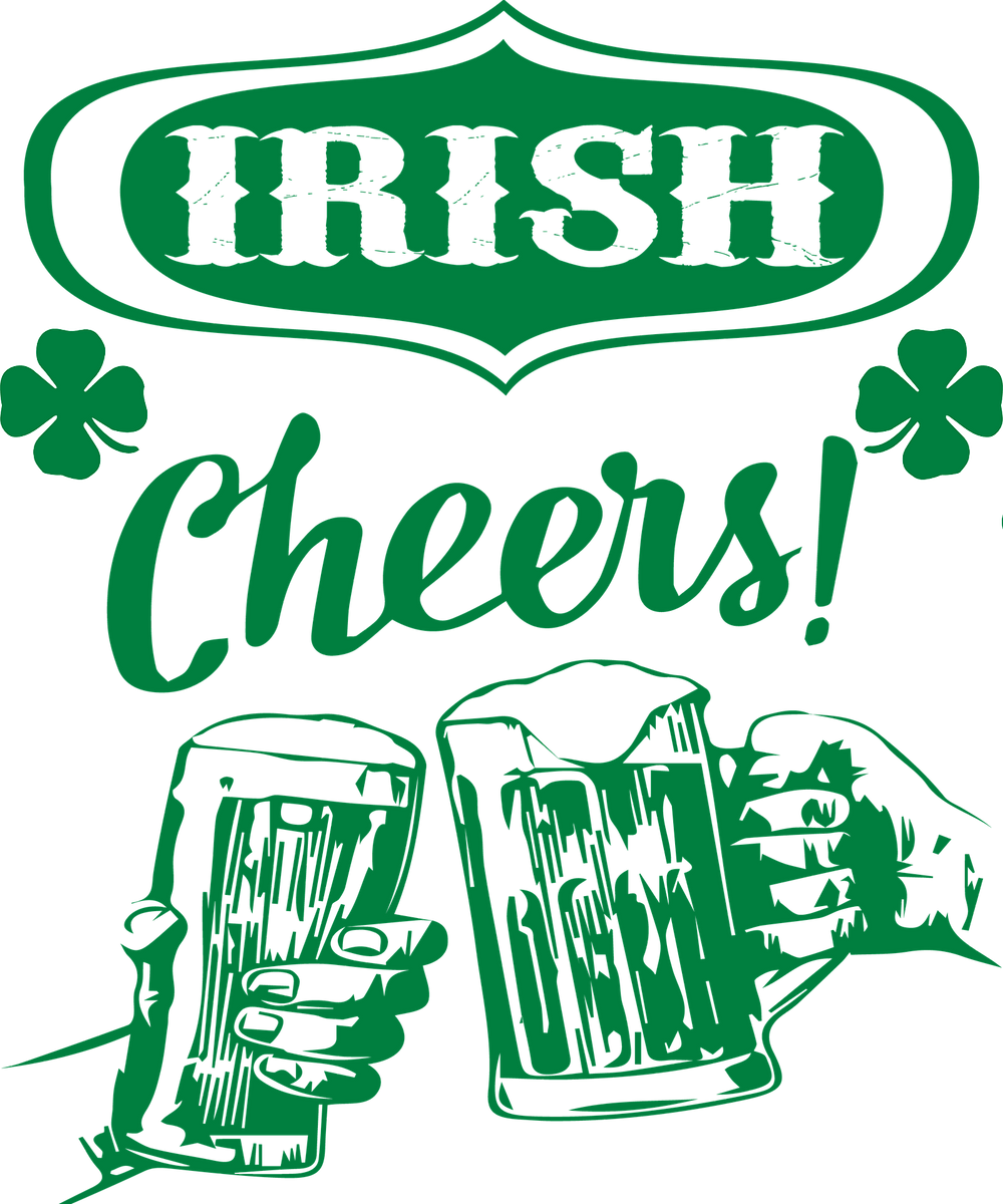 Irish Cheers Art with Beer Glasses