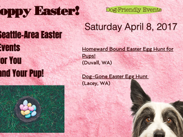This Saturday! Dog-Friendly Easter Egg Hunt Events
