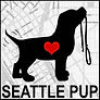 Seattle Pup Logo Dog Silouette with heart