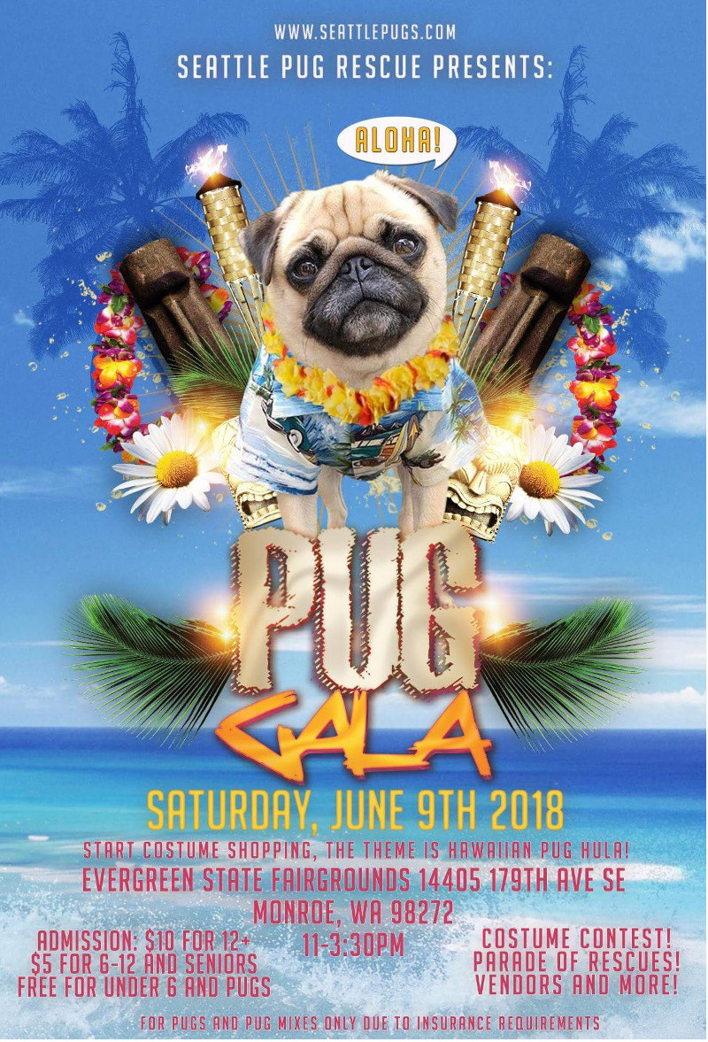 Seattle Pup Rescue Pug Gala Poster
