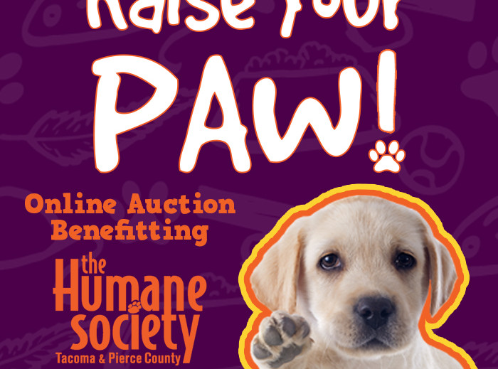 RAISE YOUR PAWs if you love DOGS! Let's Raise some $$ for the Humane Society!!