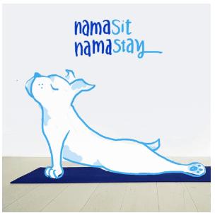 Dog drawing doing yoga pose