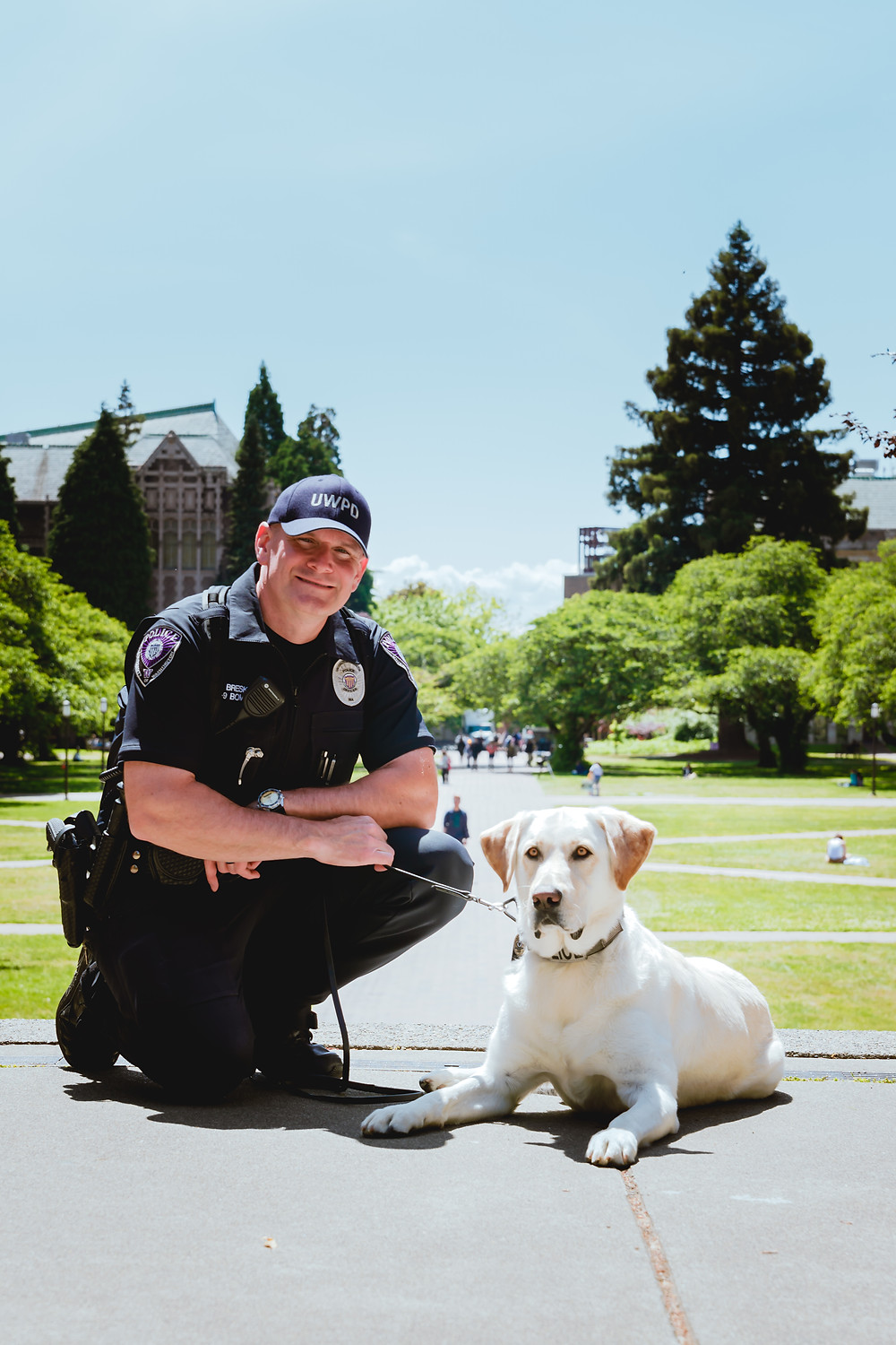 Officer Bresko and Murphy on UW Campus