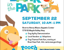 Renton Pooch Plunge and Bark n' the Park This SATURDAY!