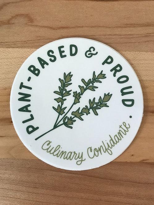 Plant-based & Proud Sticker