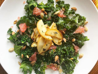 Wilted Kale & Grapefruit Salad
